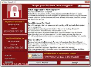 Вымогатель WanaCrypt0r 2.0
